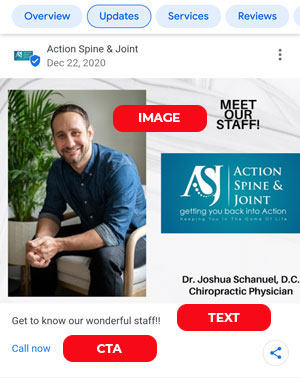 Chiropractic Google My Business Posts: Composition<