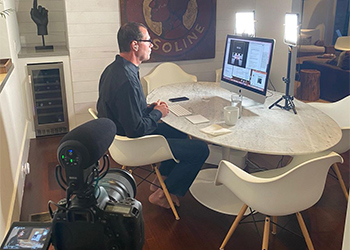 Smart Chiropractor Co-Founder Jason Deitch Records a New Video with His Personal Recording Equipment