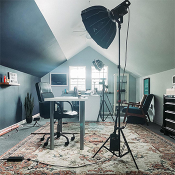 A Wide Shot of Dr. Jeff Langmaid's Personal Recording Equipment Setup and Studio
